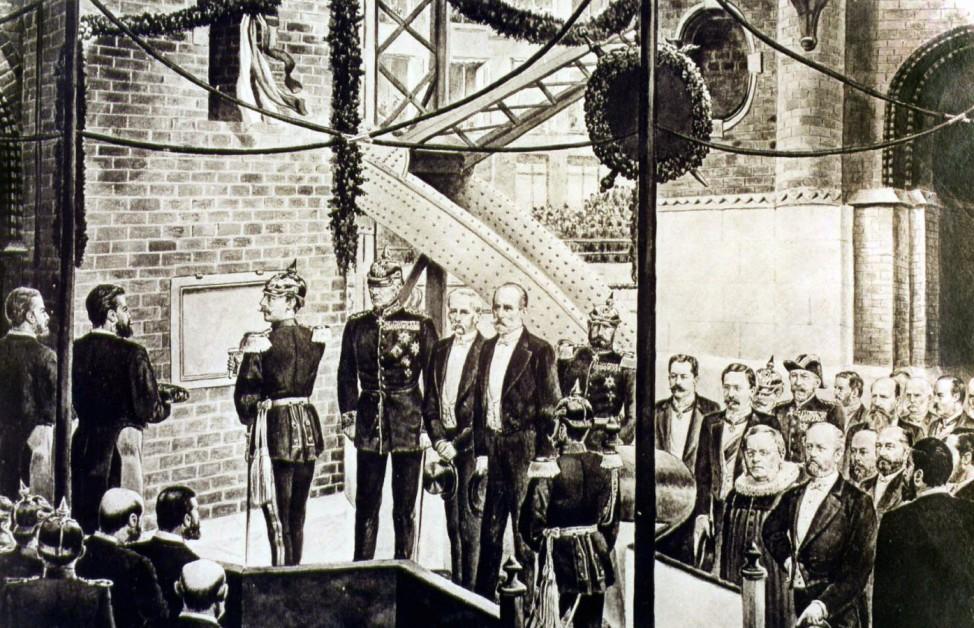 125 Jahre Speicherstadt Hamburg Brooksbrücke Einweihung Kaiser Friedrich Wilhelm II.