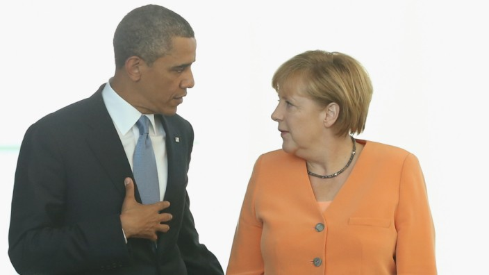 (FILE) NSA Possibly Eavesdropped On Angela Merkel's Mobile Phone