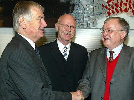 Otto Schily; Peter Struck; Ludwig Stiegler; dpa