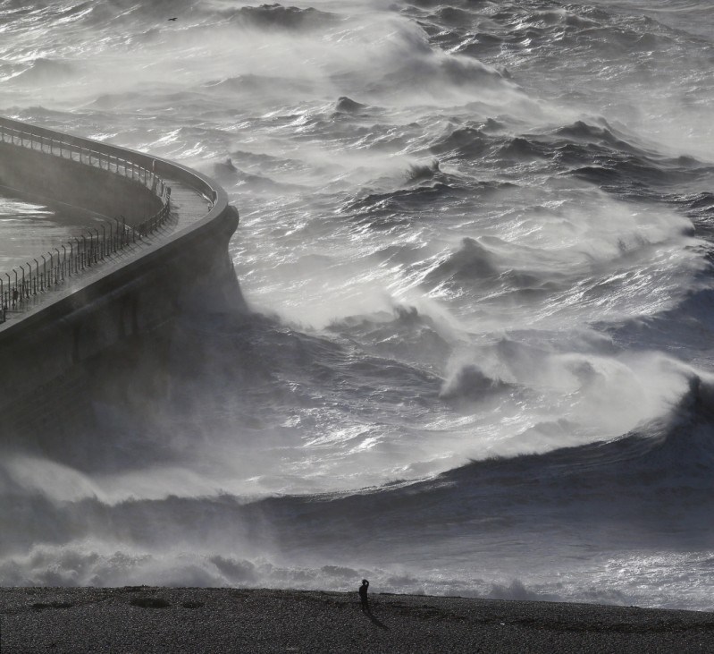 BESTPIX Strong Winds And Heavy Rain Hit  England and Wales