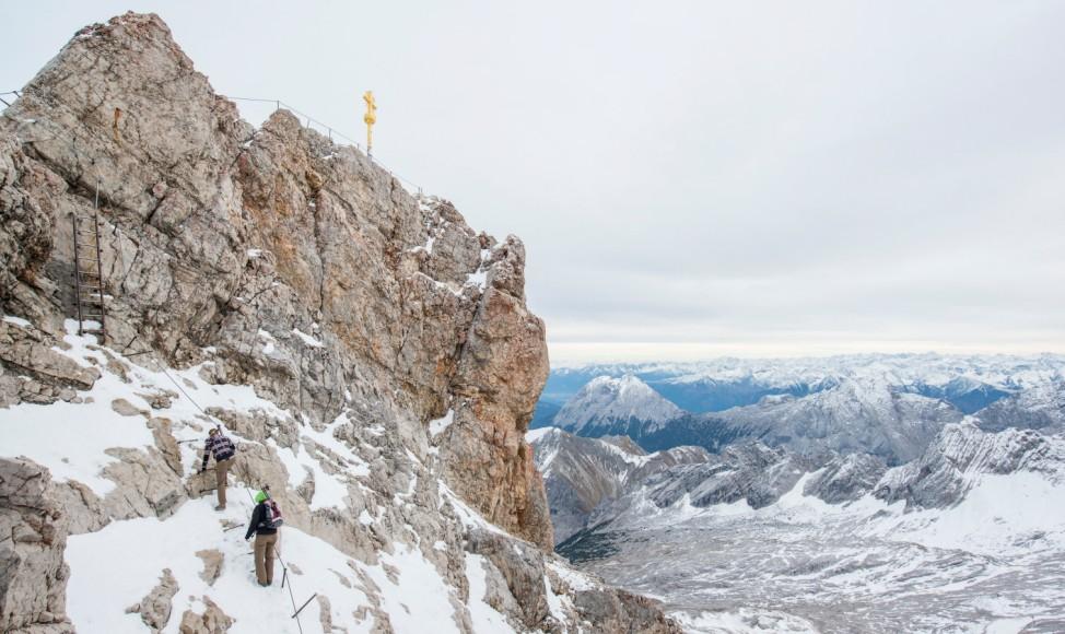 Schnee auf der Zugspitze