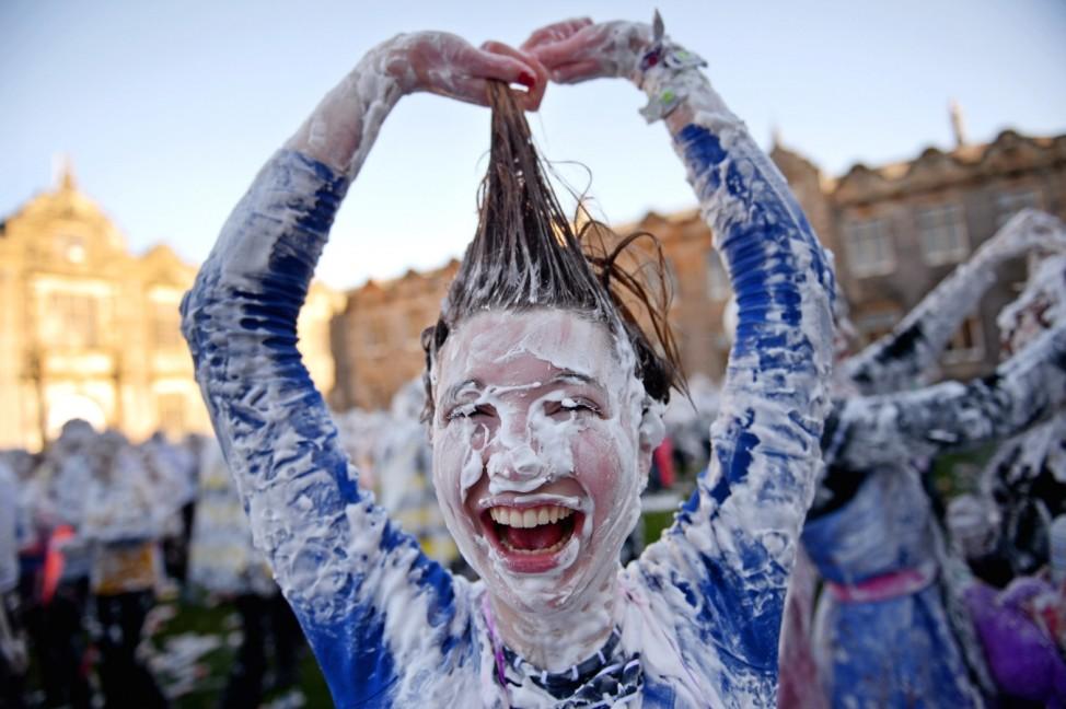 Students Celebrate Raisin Monday At St Andrew's University