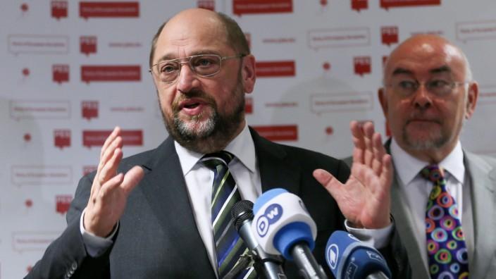 PES presents Martin Schulz as designate for 2014 European electio