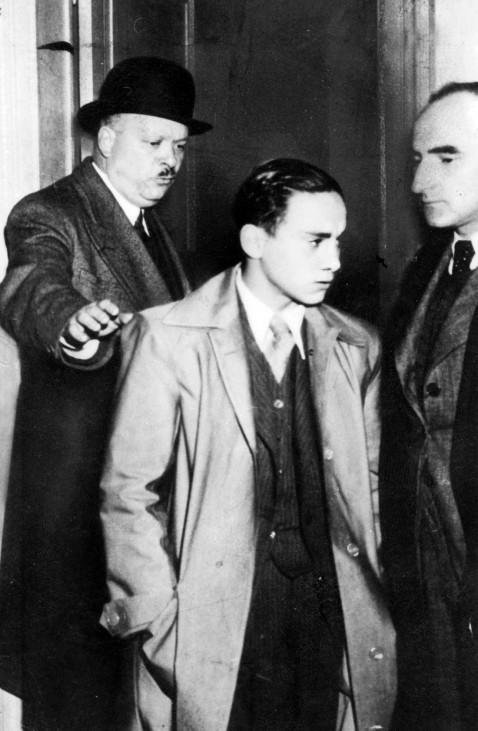 Herschel Grünspan bei seiner Verhaftung, Antisemitismus; 9. November 1938 Pogromnacht