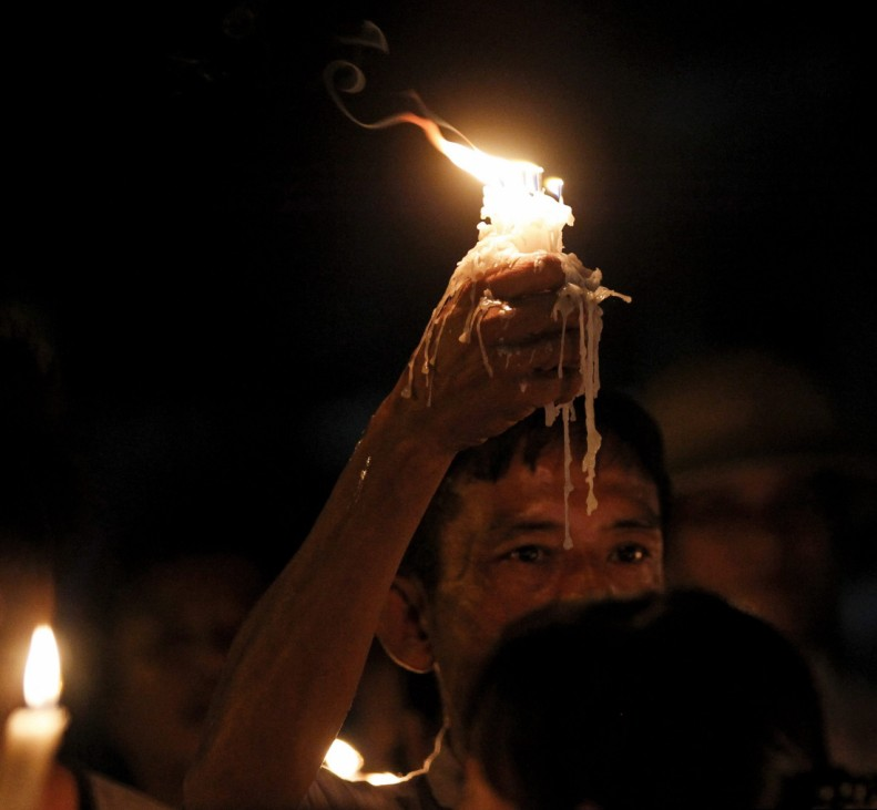 Candle light protest against electricity prices