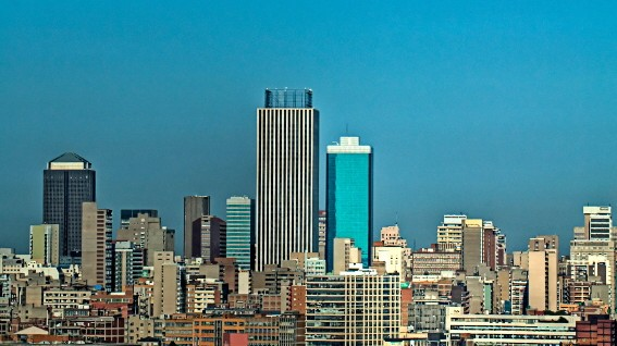 Johannesburg City under the moon; Johannesburg