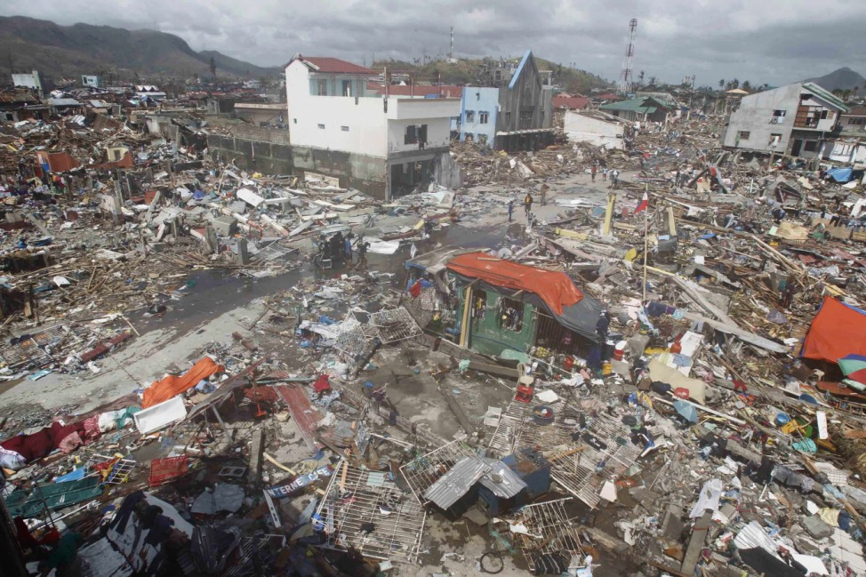 Thousands of homes are destroyed after super Typhoon Haiyan battered Tacloban city