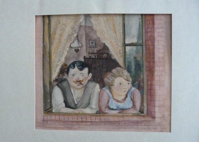 Gurlitt-Sammlung Wilhelm Lachnit Mann und Frau am Fenster
