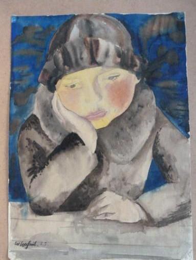 Gurlitt-Sammlung Wilhelm Lachnit Mädchen am Tisch