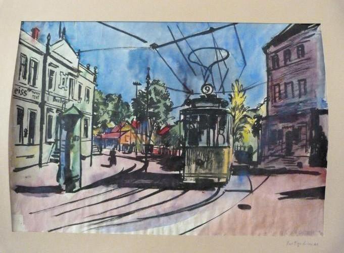 Gurlitt-Sammlung Bernhard Kretschmar Straßenbahn