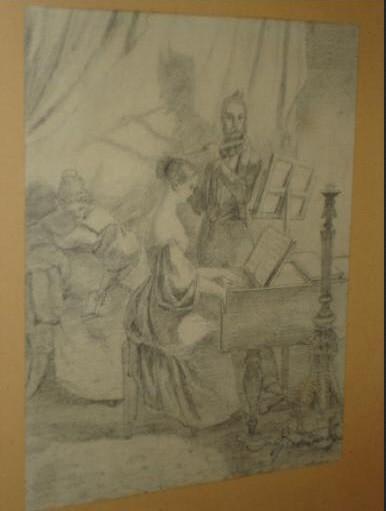 """Werke aus der Gurlitt-Sammlung: Carl Spitzweg: """"Das Klavierspiel"""""""