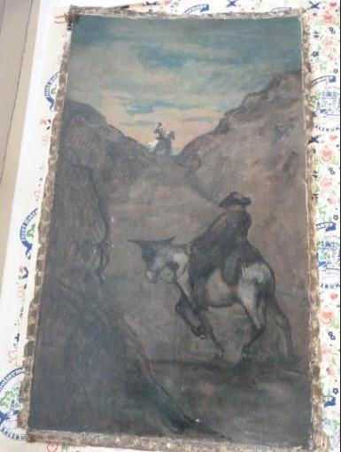 """Werke aus der Gurlitt-Sammlung: Honoré Daumier: """"Don Quichote und Sancho Panza"""""""