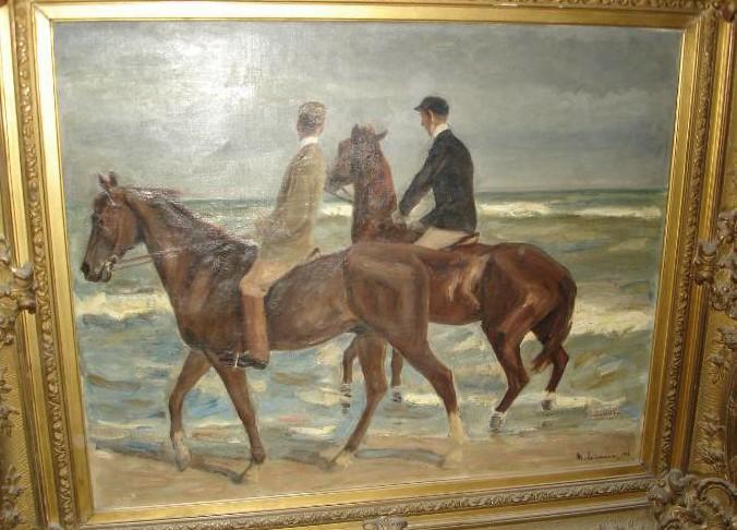 """Werke aus der Gurlitt-Sammlung: Max Liebermann: """"Reiter am Strand"""""""