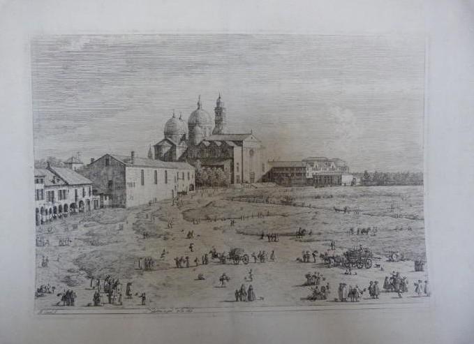 """Werke aus der Gurlitt-Sammlung: Antonio Canaletto: """"Sa. Giustina in Prà della Vale"""" in Padua"""