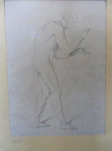 """Werke aus der Gurlitt-Sammlung: Bonaventura Genelli: """"Männlicher Akt"""""""