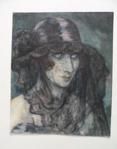 """Werke aus der Gurlitt-Sammlung: Otto Griebel: """"Die Verschleierte"""""""