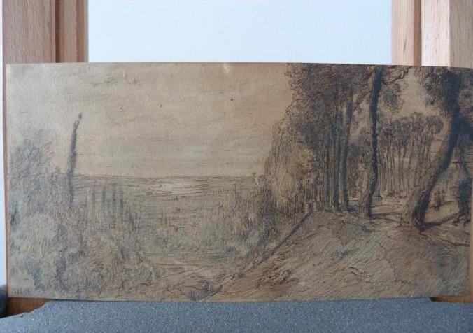 "Werke aus der Gurlitt-Sammlung: Théodore Rousseau ""Vue de la vallée de la Seine"""