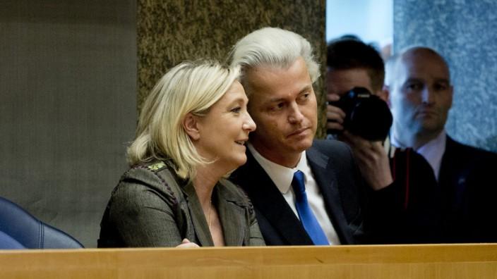 Rechtspopulisten Marine Le Pen und Geert Wilders