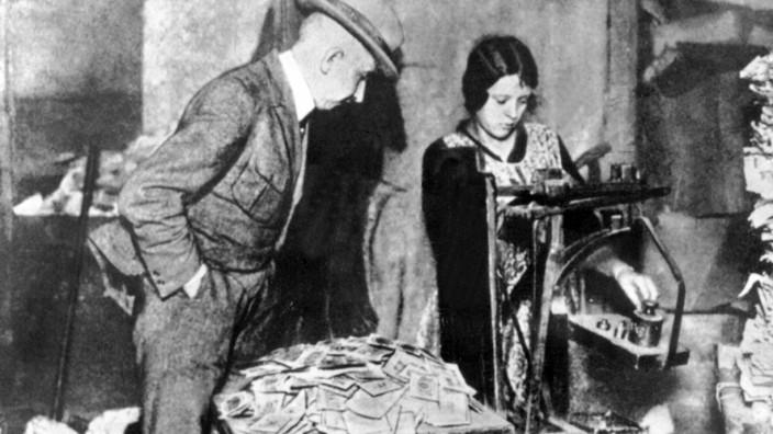 Inflation Bargeld Geldscheine Münzen