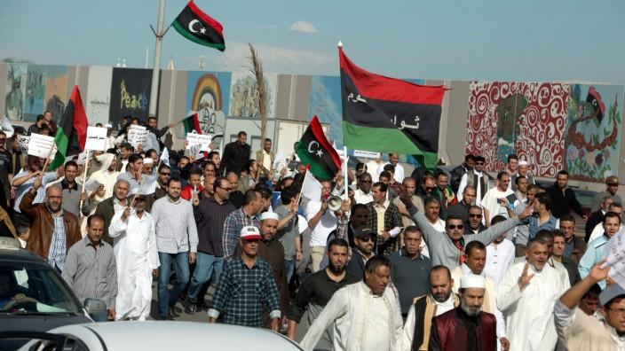 Proteste in Tripolis, Libyen