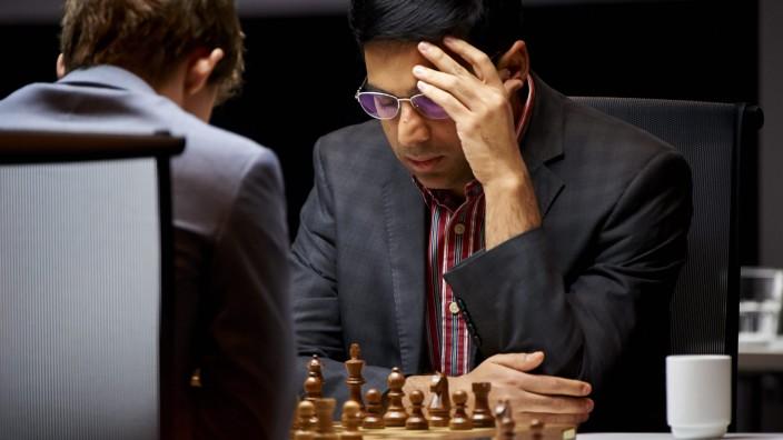 Carlsen und Anand