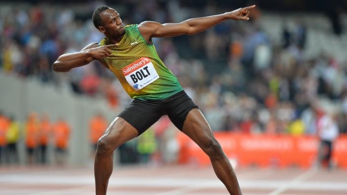 Doping in der Leichtathletik: Hat das Prinzip eines Streiks offensichtlich nicht verstanden: Der jamaikanische Leichtathlet Usain Bolt.