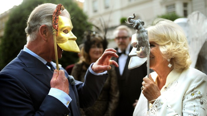 IMAGES OF THE YEAR 2013 - ENTERTAINMENT - The Prince Of Wales & Duchess Of Cornwall Host A Royal Reception For The Elephant Family