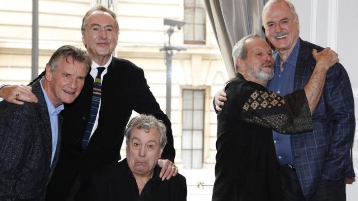 Die fünf verbliebenen Mitglieder der Komikertruppe Monty Python (v.l.): Michael Palin, Eric Idle, Terry Jones, Terry Gilliam und John Cleese.