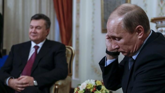 Vorerst weiter Seite an Seite: Der ukrainische Staatspräsident Viktor Janukowitsch und Russlands Präsident Wladimir Putin.