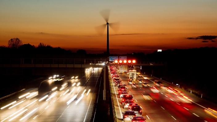 Verkehr in Deutschland: A2 nördlich von Hannover