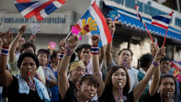 Bangkok Thailand Proteste Demonstranten