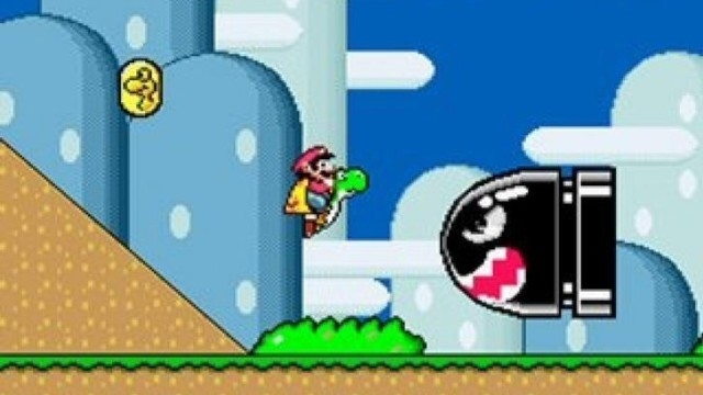 "Screenshot aus ""Super Mario World""."