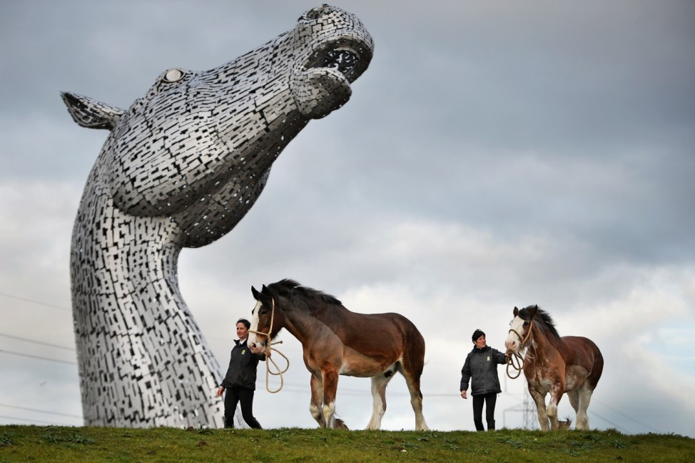 *** BESTPIX *** Completion Of The World's Largest Of Equine Sculptures