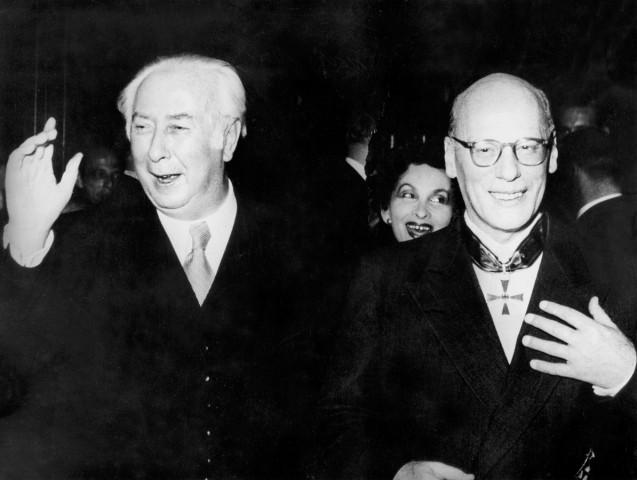 Theodor Heuss mit Gustaf Gründgens, 1953