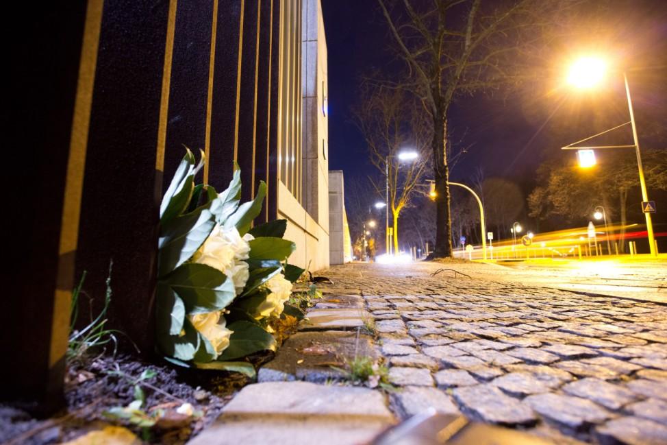 Trauer um Nelson Mandela in Berlin