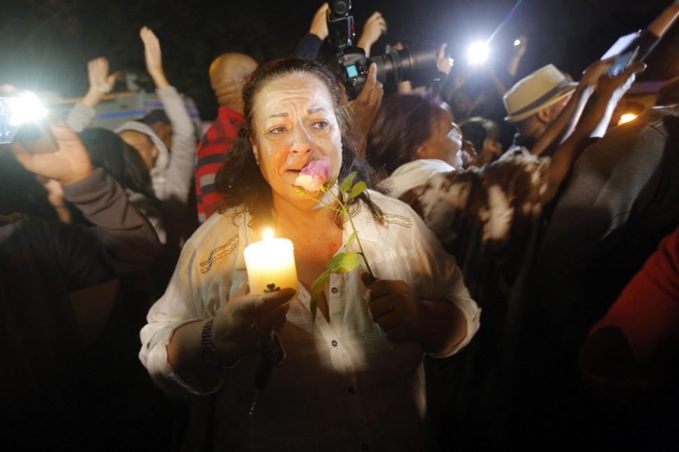 Former South African President Nelson Mandela mourners