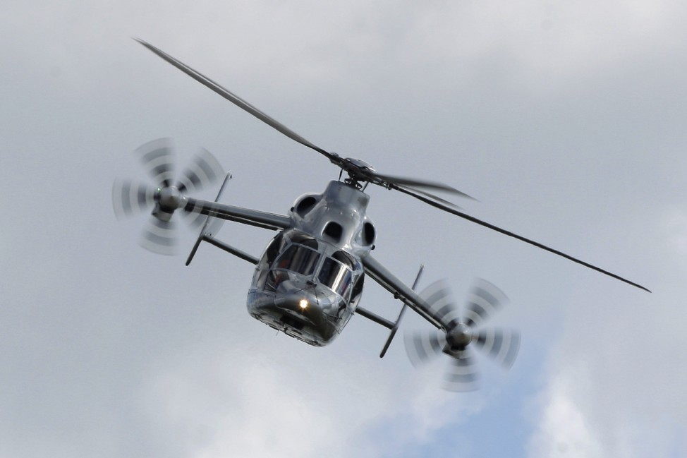 Eurocopter X3 helicopter is presented at ILA Berlin Air Show in Selchow