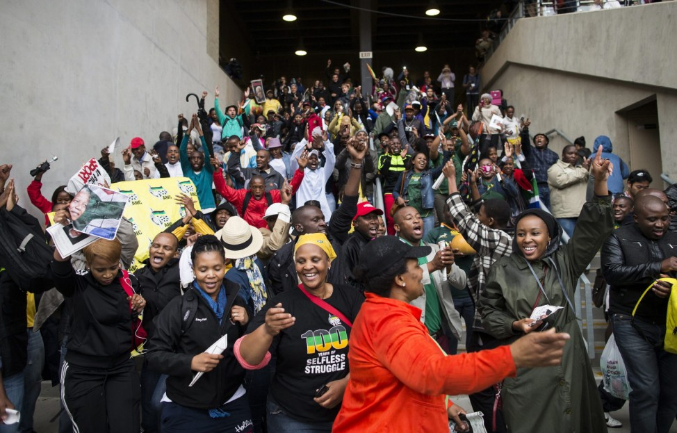Late South African President Nelson Mandela mourners