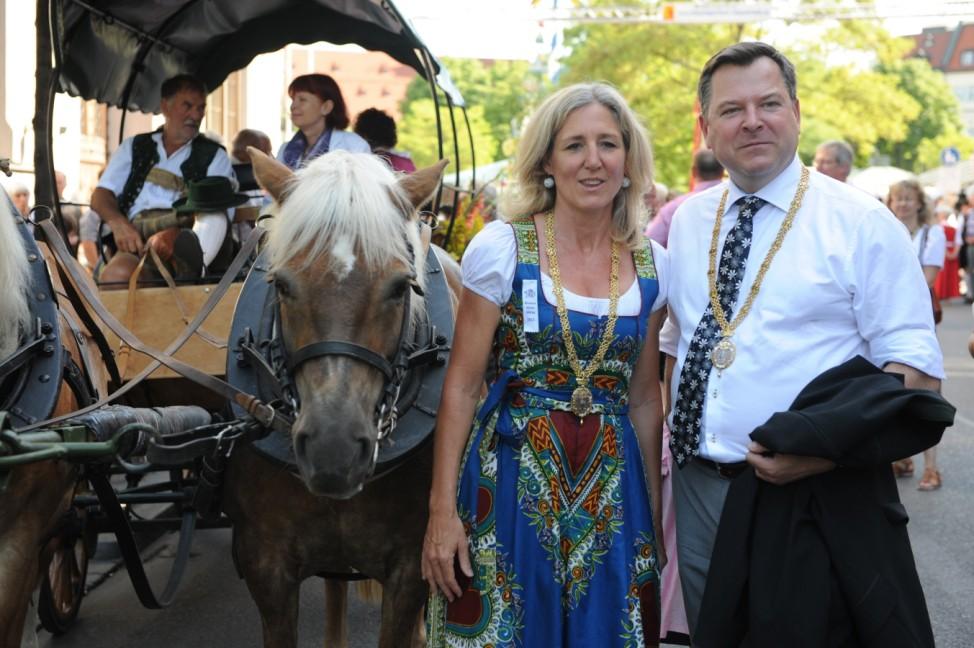 Sabine Nallinger und Josef Schmid beim Gärtnerjahrtag in München, 2013