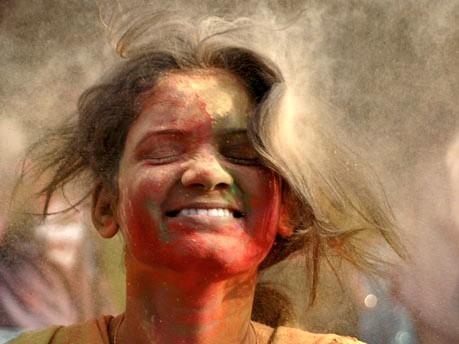 Holi Fest in Indien