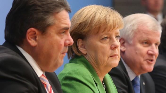 CDU/CSU And SPD Present New Coalition Contract