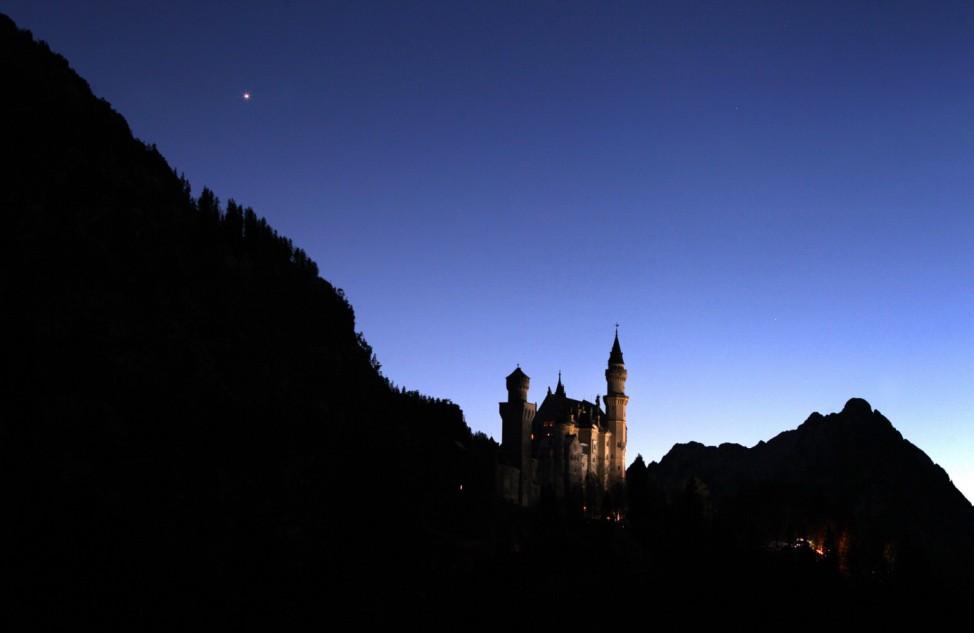 Abendstern über Schloss Neuschwanstein