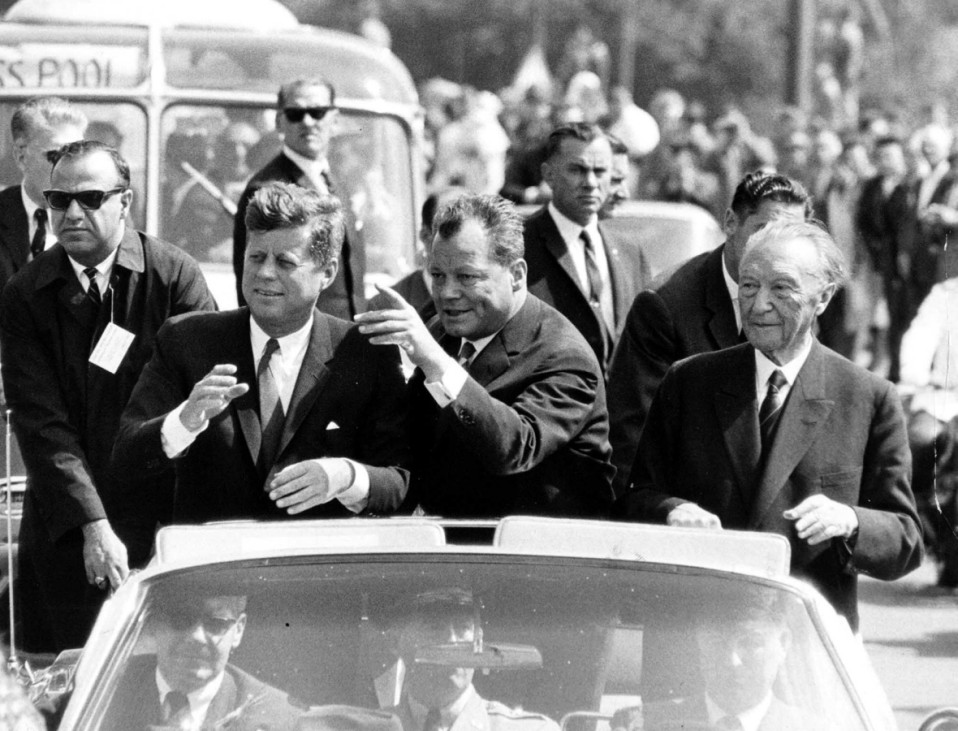 John F. Kennedy, Willy Brandt, Konrad Adenauer, 1963