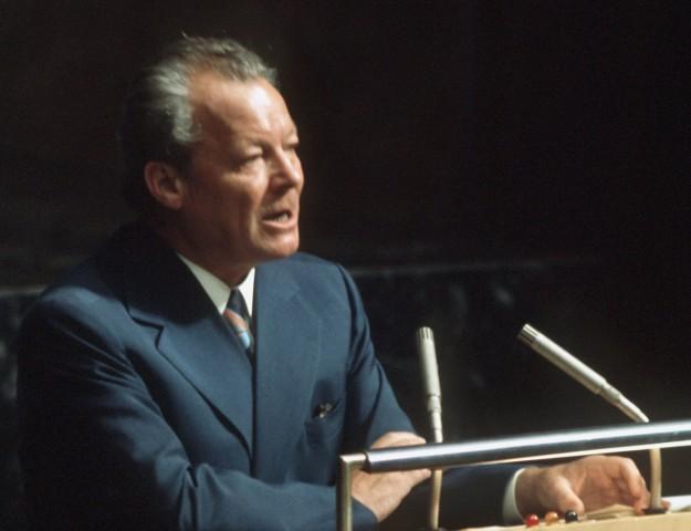 Willy Brandt spricht vor der UNO, 1973