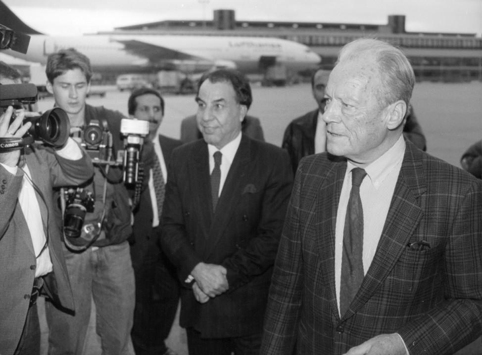 Willy Brandt reist nach Bagdad, 1990