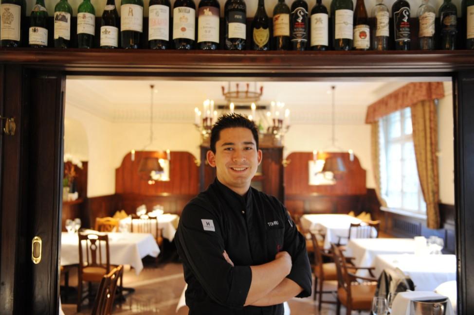 """Tohru Nakamura im Restaurant """"Werneckhof"""" in München, 2012"""