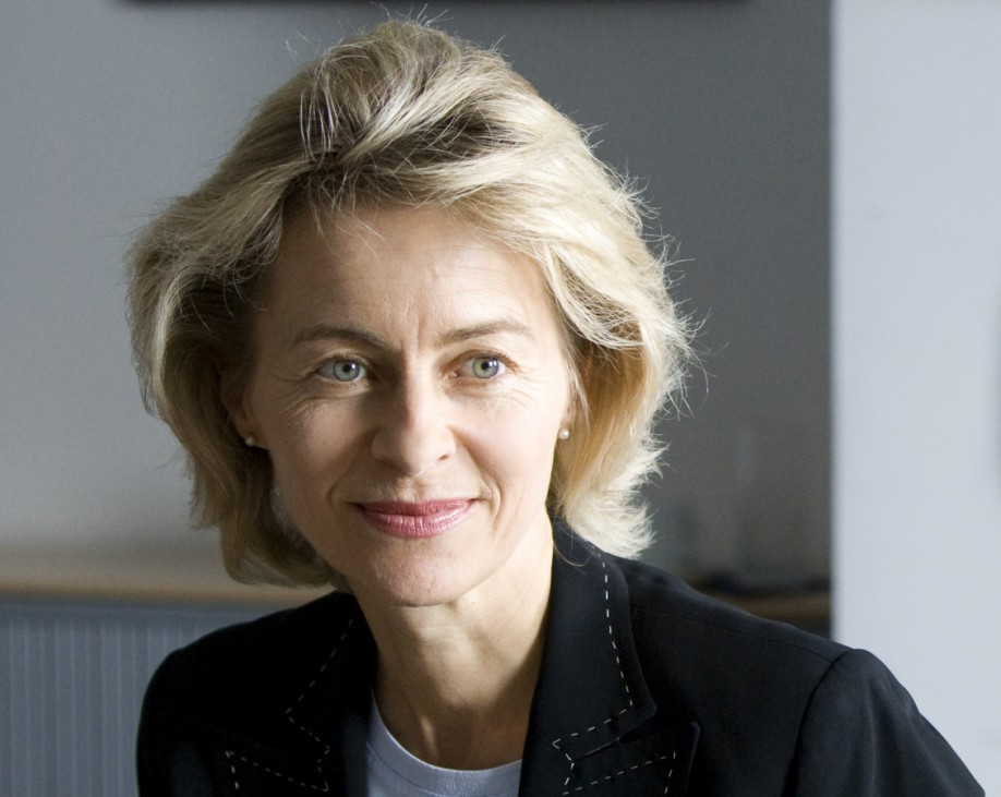 German Families Minister Ursula Von Der Leyen answers questions during a Reuters interview in Berlin