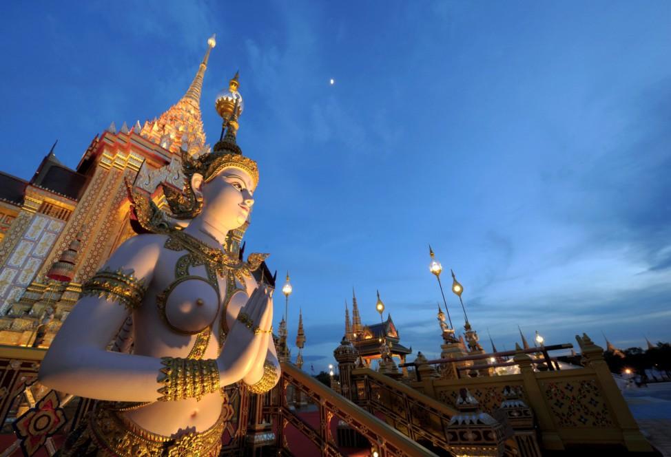 Der königliche Scheiterhaufen der thailändischen Prinzessin Galyani Vadhana.