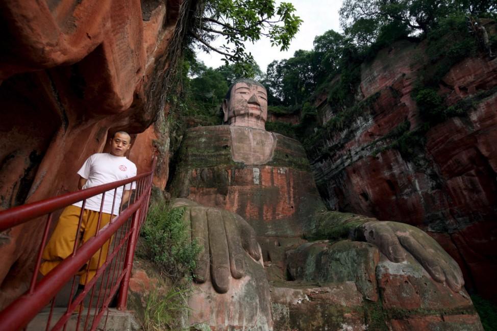 Großer Buddha in Leshan UNESCO-Welterbe
