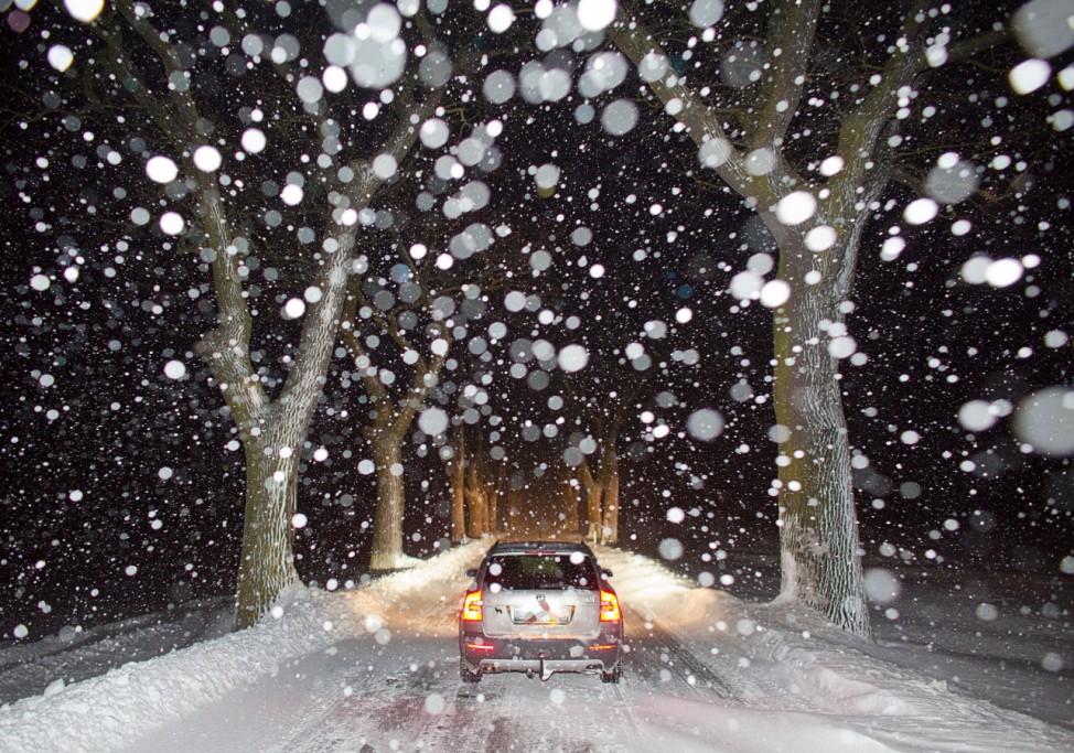 Heftige Schneefälle in Ostbrandenburg